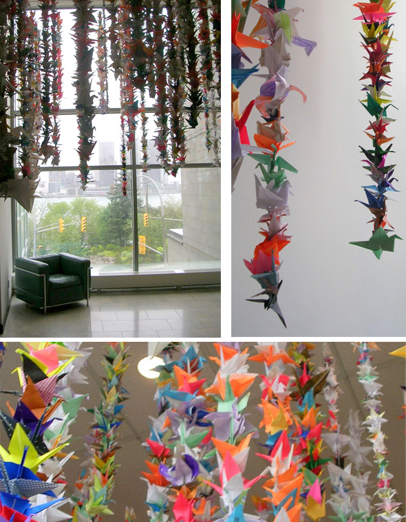 Art Gallery of Windsor, paper cranes, origami