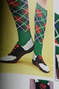 knit kneehigh socks and shoes