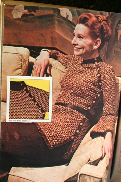 retro 70's knit tunic