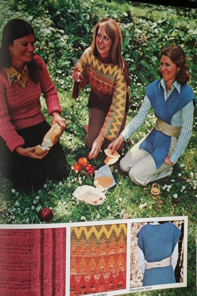 retro 70's knit picnic