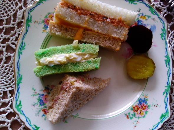 tea time sandwiches, Victorian tea