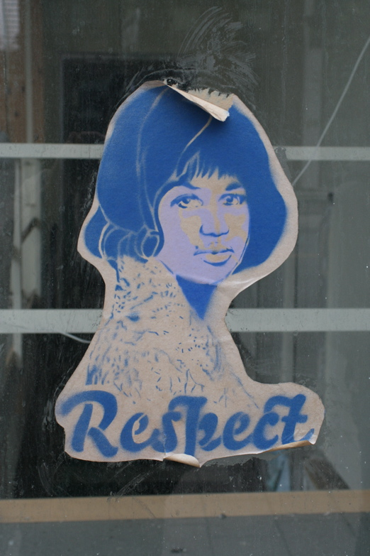 Aretha Franklin, graffitti, Detroit