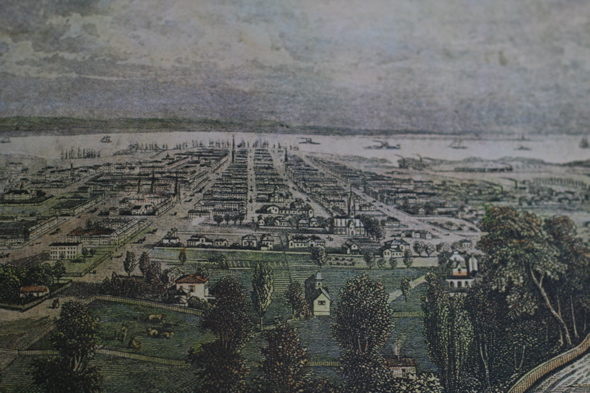 1860 City of Hamilton view
