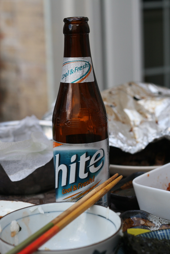 Hite Korean beer