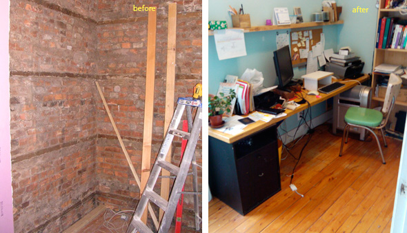 office before & after, renovation