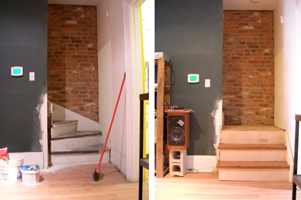 new stairs, renovation