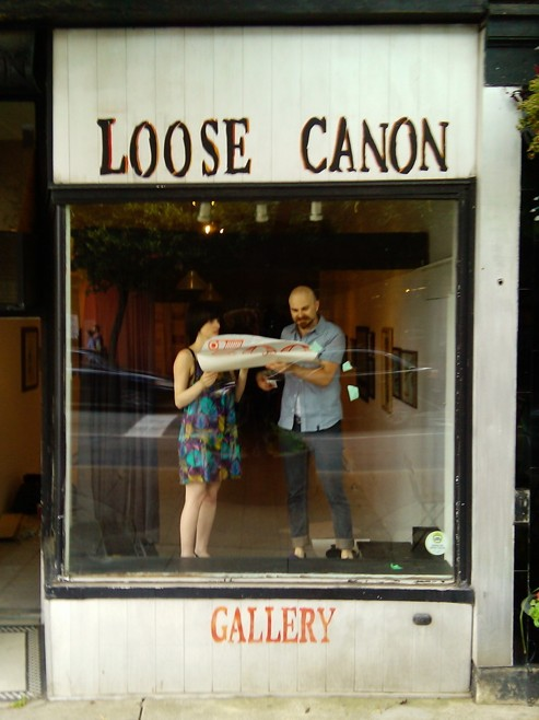Loose Canon, James north art crawl, Hamilton galleries, zoo art show,