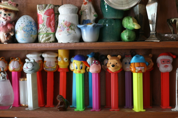 vintage pez dispensers, Aberfoyle Antique Market