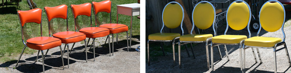 colourful vintage antique chairs, Aberfoyle Antique Market