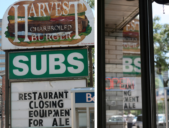Harvest Burger, Hamilton, closing