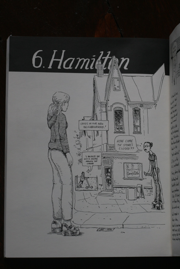 Hamilton Sketchbook, David Collier, graphic novel, Hamilton, Ontario