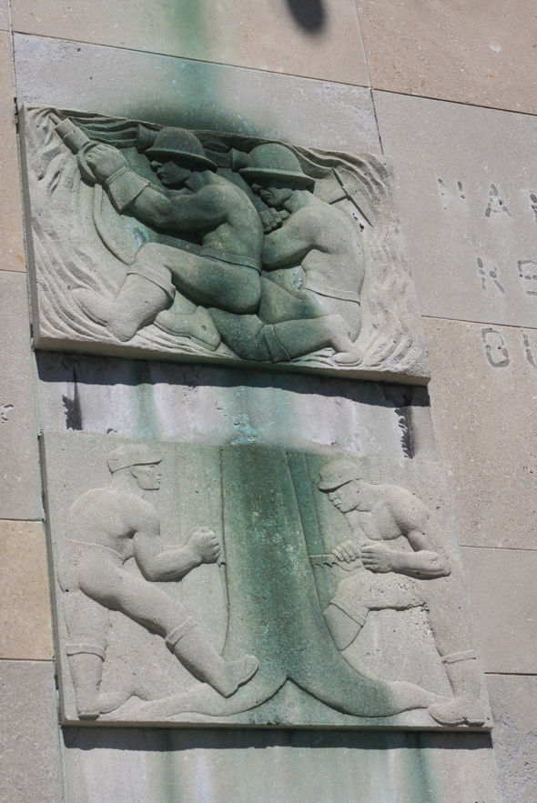 Elizabeth Holbrook, art, stone work, Hamilton, Federal Building, 150 Main St.