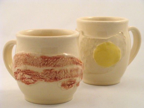 bacon egg potery, by breand and butter pottery, summer craft fair, Hamiton, James St. North