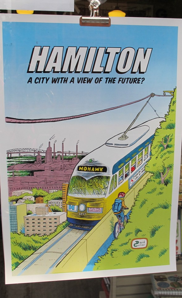 Hamilton Light Rail Transit, David Collier, Hamilton, graphic artist, illustrator, Mixed Media