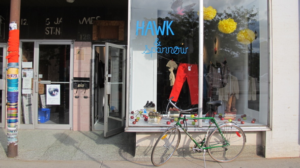 hawk & sparrow, james st. north, vintage clothing store, 126 james st. north, hamilton, ontario