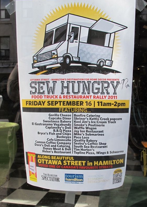 Sew Hungry, BIA, Ottawa St.  Hamilton, Ontario, food trucks, Gorilla Cheese,