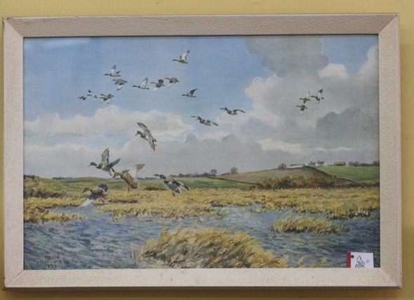 vintage paintings, flock of geese, Ottawa Street, Hamilton, Ontario, antiques