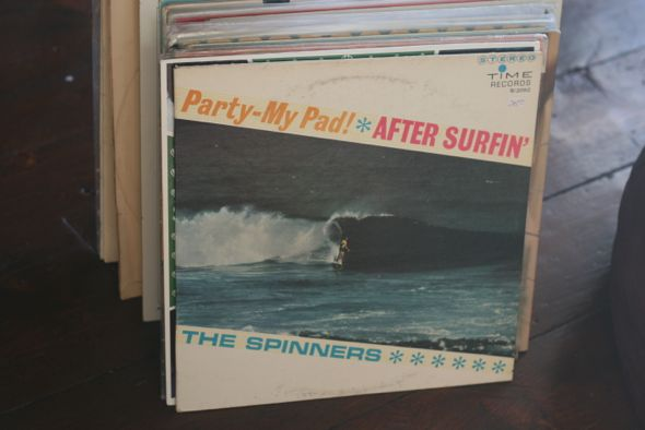 The Spinners, surf music, records, vinyl, Party -My Pad, After Surfin'