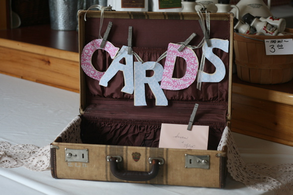 vintage themed wedding, card & gift table, card box, wedding