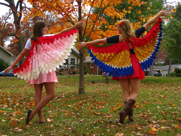 costumes, bird wings, easy to make wings, DIY