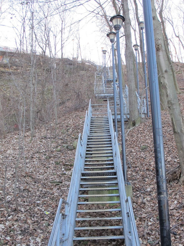 james south, stairs, escarpment, hamilton, ontario