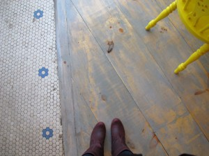 tiles and wood