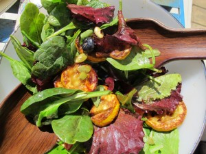 grilled yellow zuchini salad