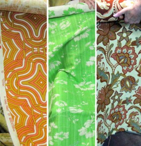 vintage retro upholstery fabric