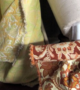 vintage upholstery fabric