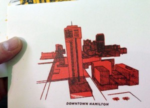 "Matt Jelly print ""downtown Hamilton"""