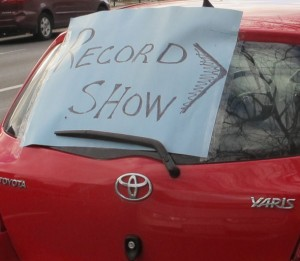 Record Show Sign