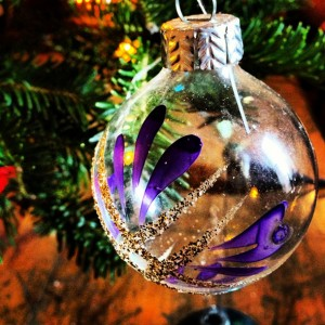 glass vintage christmas ball