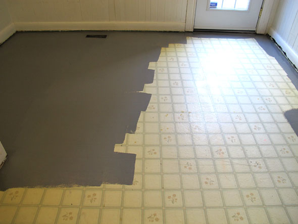 Painting vinyl floors this must be the place for Painting vinyl floor tile