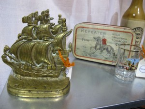 vintage brass ship