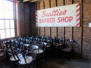 Treble Hall Beatties Barber Shop Sign