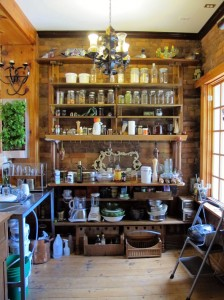 green cottage kitchen