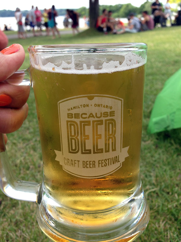 Because Beer sampling mug